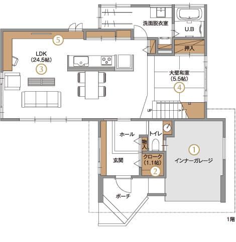 モデルハウス1階平面図